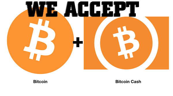pay with bitcoin or bitcoin cash