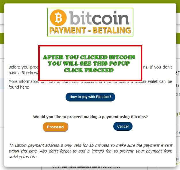 bitpay popup