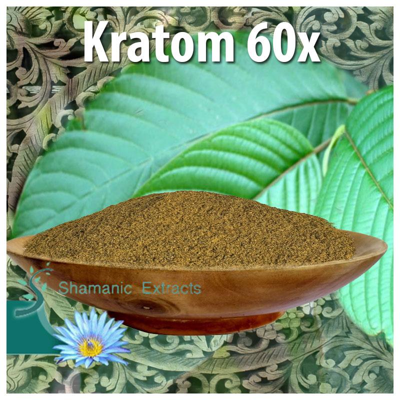 Kratom full spectrum 60x Extract, Mitragyna speciosa
